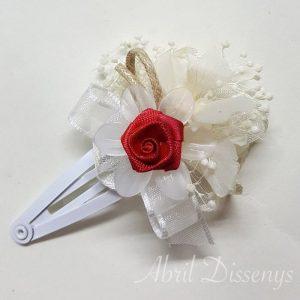 Clip de flores Estefanía