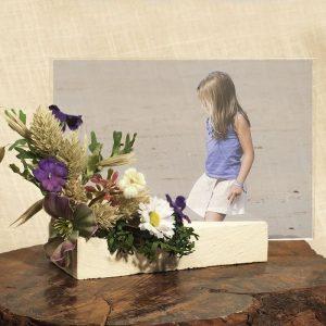 Porta fotos madera flor surtida Eunice 1