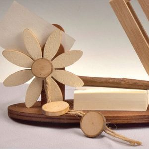 Portanotas papel y lápiz hecho a mano Madera