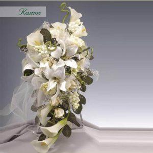 Ramo novia forma violín personalizable