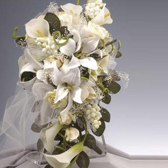 Ramo de novia com forma de violin colección Elena