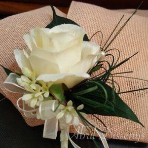 Solapa novio rosa blanca y azahar