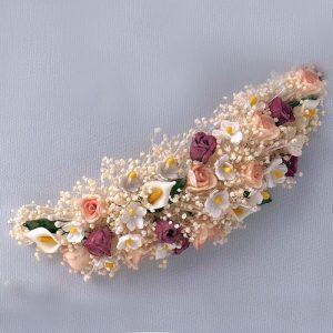 Tocado flor primaveral Alba