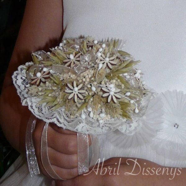 Bouquet con flor de madera Margaritas