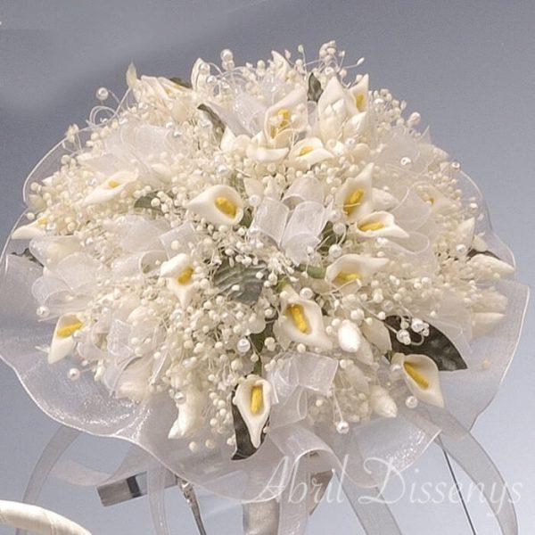 Bouquet damita flor preservada y calas
