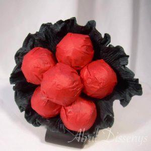 Bouquet de seis chupa chups color personalizado