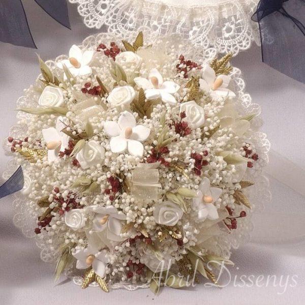 Bouquet flores porcelana