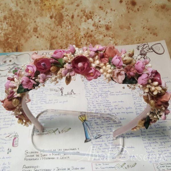 Diadema de Flores Fusión Vintage