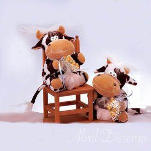 Novias vacas lesbis de peluche pastel personalizados