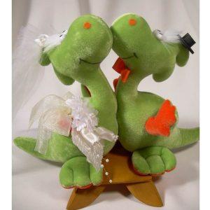 Novios de peluche Dinosaurios para Pastel