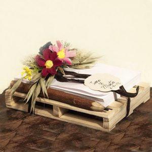 Palet porta notas y lápiz flor surtida Eunice