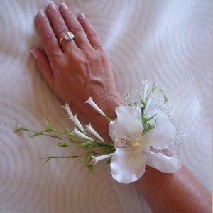Pulsera flores orquídea y azahar