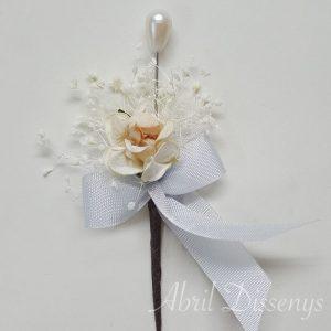 Alfiler flor azahar paniculata lazo azul