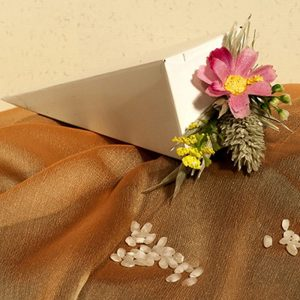 Caja arroz boda pupurri de flores