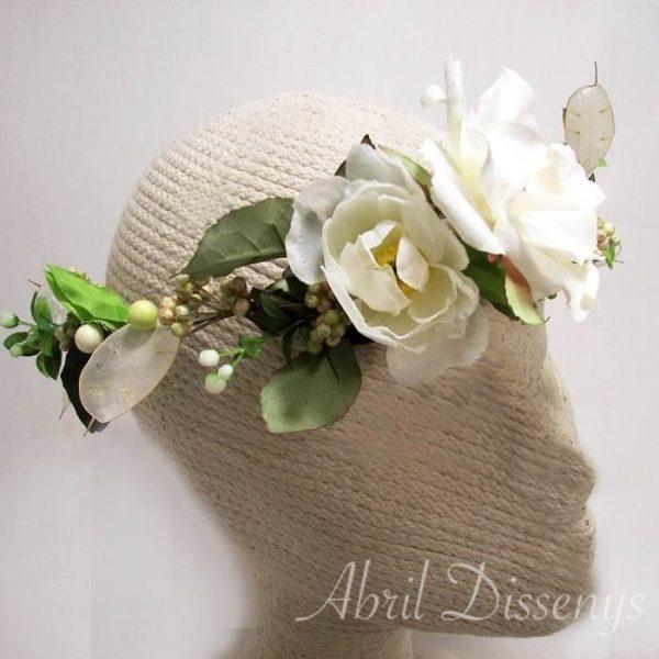 Corona flores y raices Ibicencas