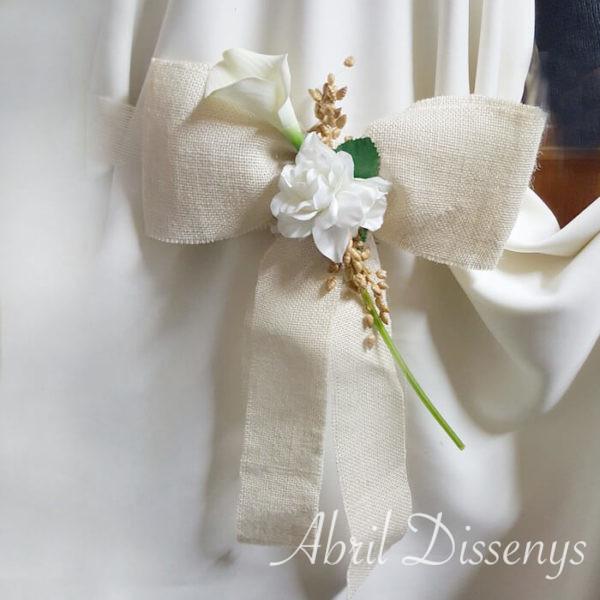 Lazos boda cala yute y Gardenia