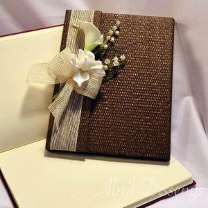 Libro de firmas boda con gardenias 31x32