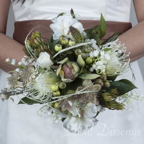 Bouquet novia redondo Anthurium