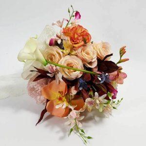 Ramo novia flores artificiales surtidas