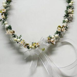 Corona flores edelweiss