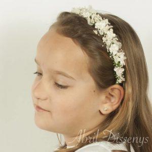 Diadema miosotis blanco