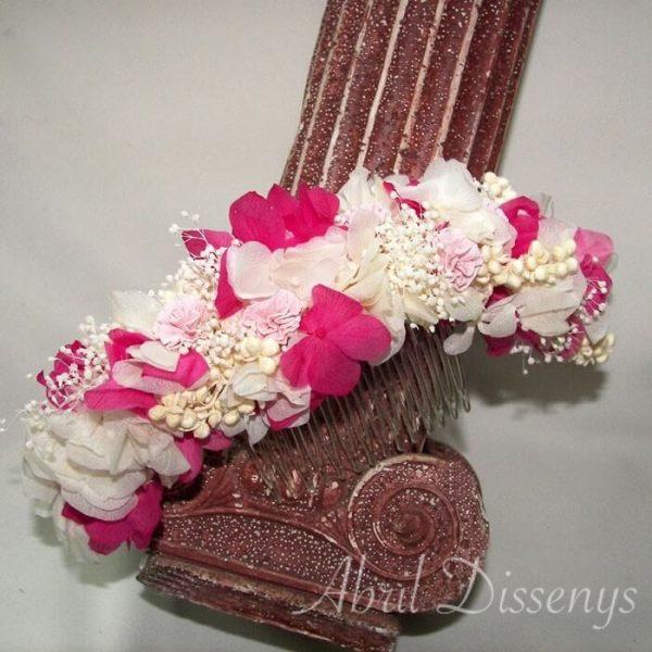 Peineta flor seca y preservada Patricia