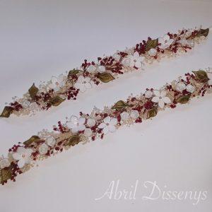Cinturas flores 45x4