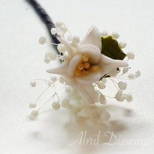 pin de flor para el pelo edelweiss set 7