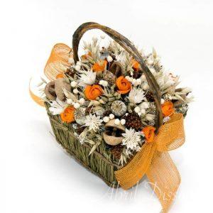 Cesta de flores secas variadas colores a escoger
