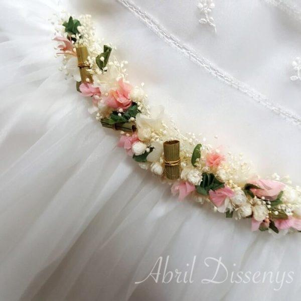 Cintura flores preservadas Sara 45x6