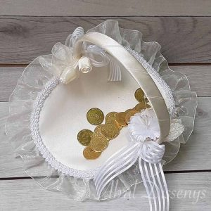 Cesta para las arras ideal bodas clásicas y elegantes