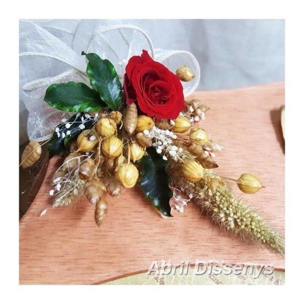 Pergamino poesia flores y caja personalizada A 3