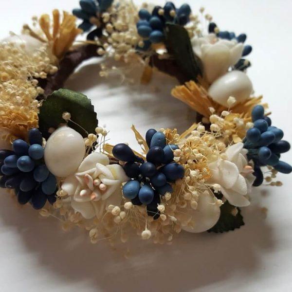 Pulsera y tobillera flores secas y pistilos