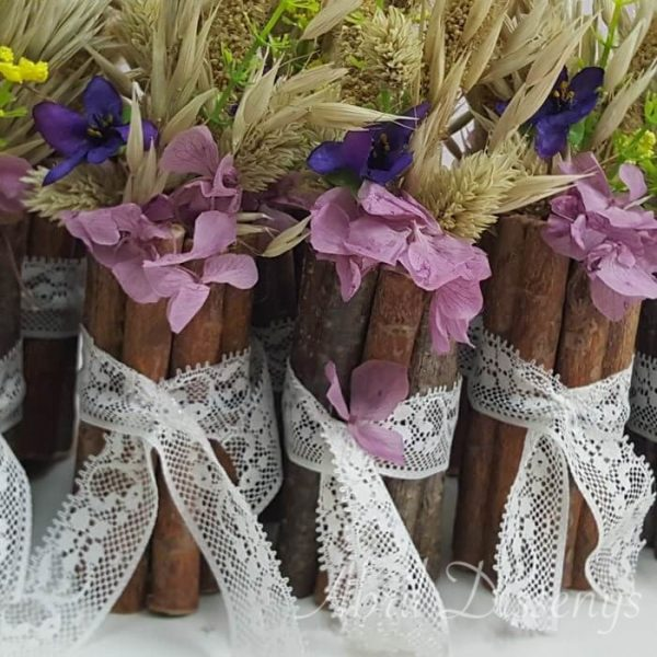 Violetero con violetas avena hortensia
