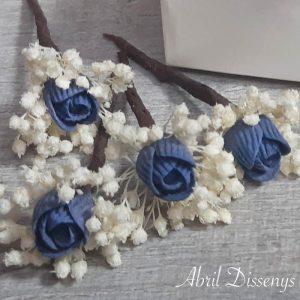 Flor Paniculata y Tulipán Azul