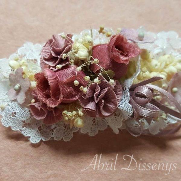 Diadema flores cinta elástica