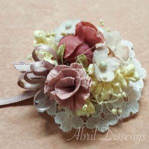 Apliques flores peonias vestidos
