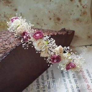 Corona flores calas y peonias