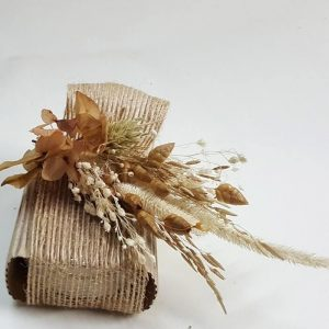 Jabón de tocador funda y flor seca arena