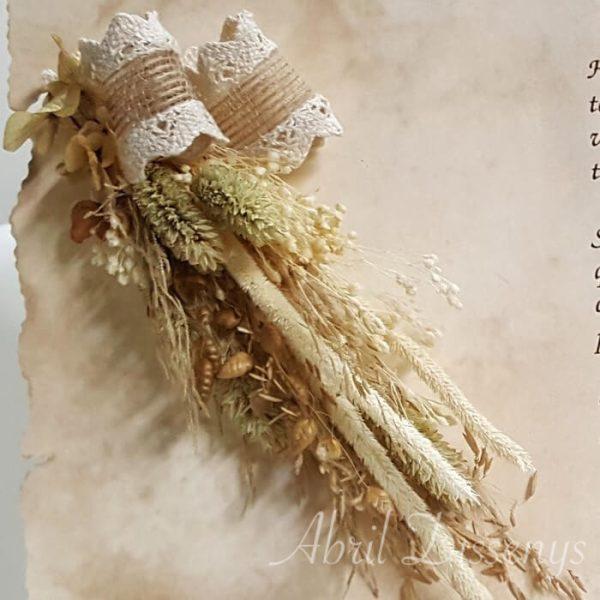 Poesía flor seca y yute Personalizado