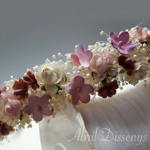 Diadema flores empolvado
