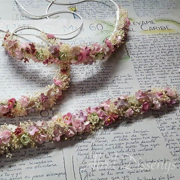 Set de Cintura y Diadema flores