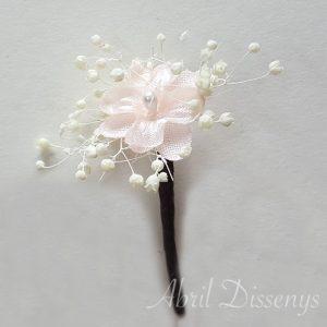 Pin de Flor Miosotis y Paniculata Set 7