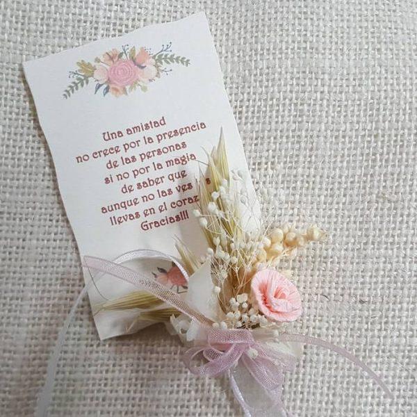 Pergamino personalizado de agradecimiento 20 unid