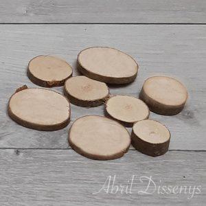 Rodajas madera para decorar