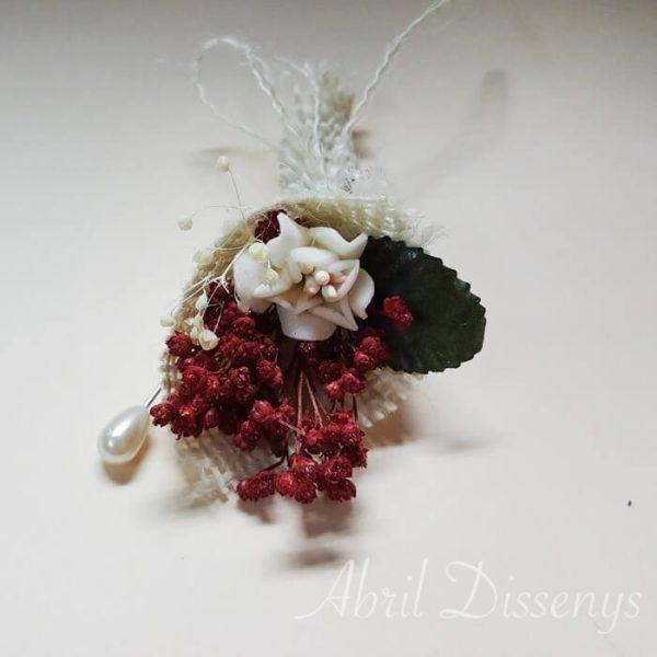 Alfiler de la novia flor seca surtidos