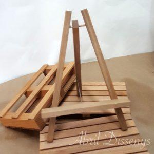 Caballete de madera porta carteles de eventos