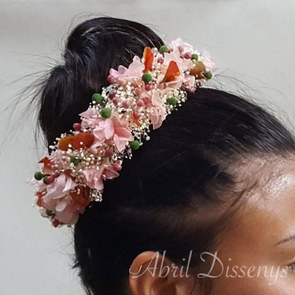 Media corona flores Pimienta