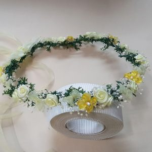 Corona de flores miosotis