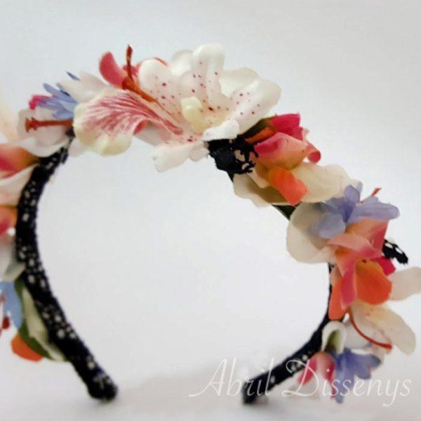 Diadema flores artificiales Eva